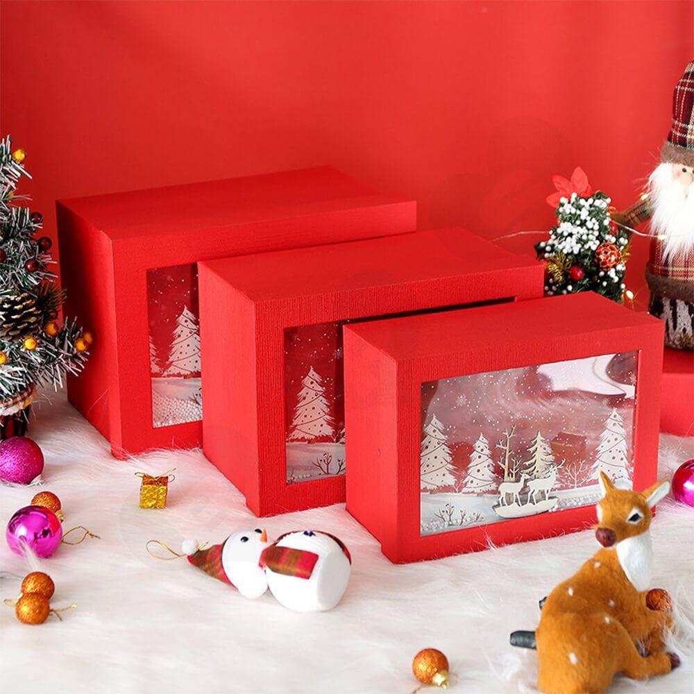 3D Effect Christmas Season Apparel Packaging Box Side View Nine