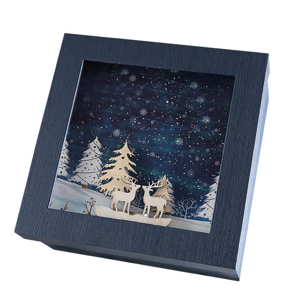 3D Effect Christmas Season Apparel Packaging Box Side View One