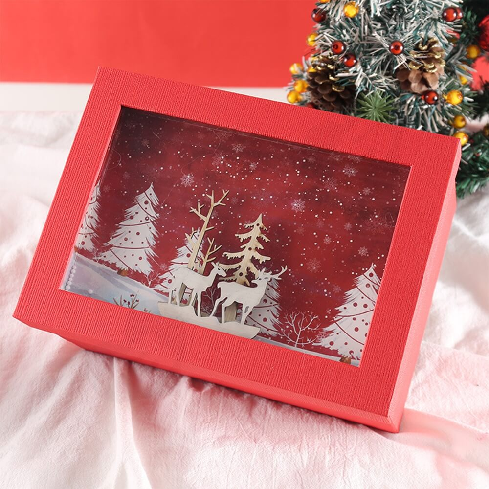 3D Effect Christmas Season Apparel Packaging Box Side View Two