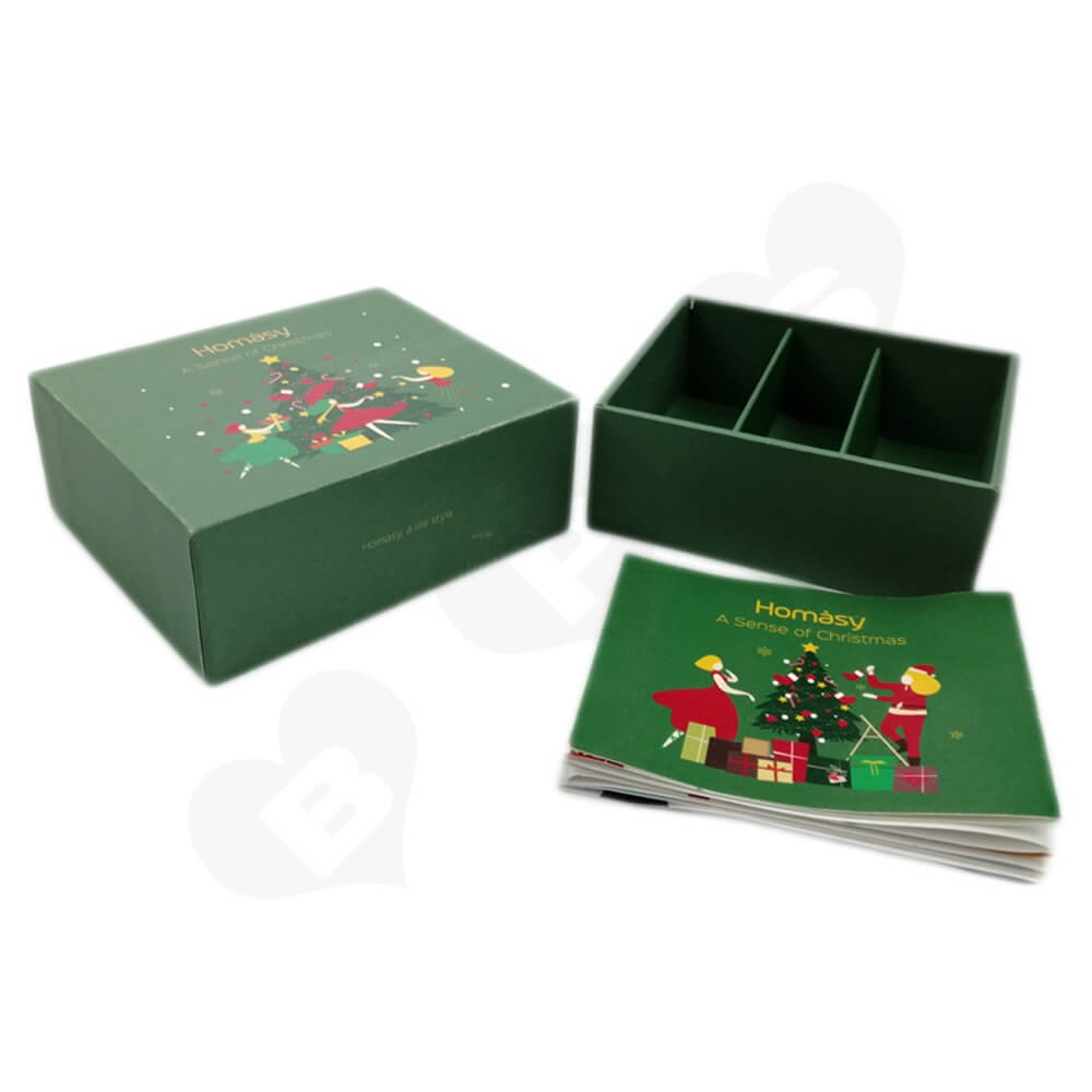 Business Product Packaging Box Printed With Christmas Color Side View Three