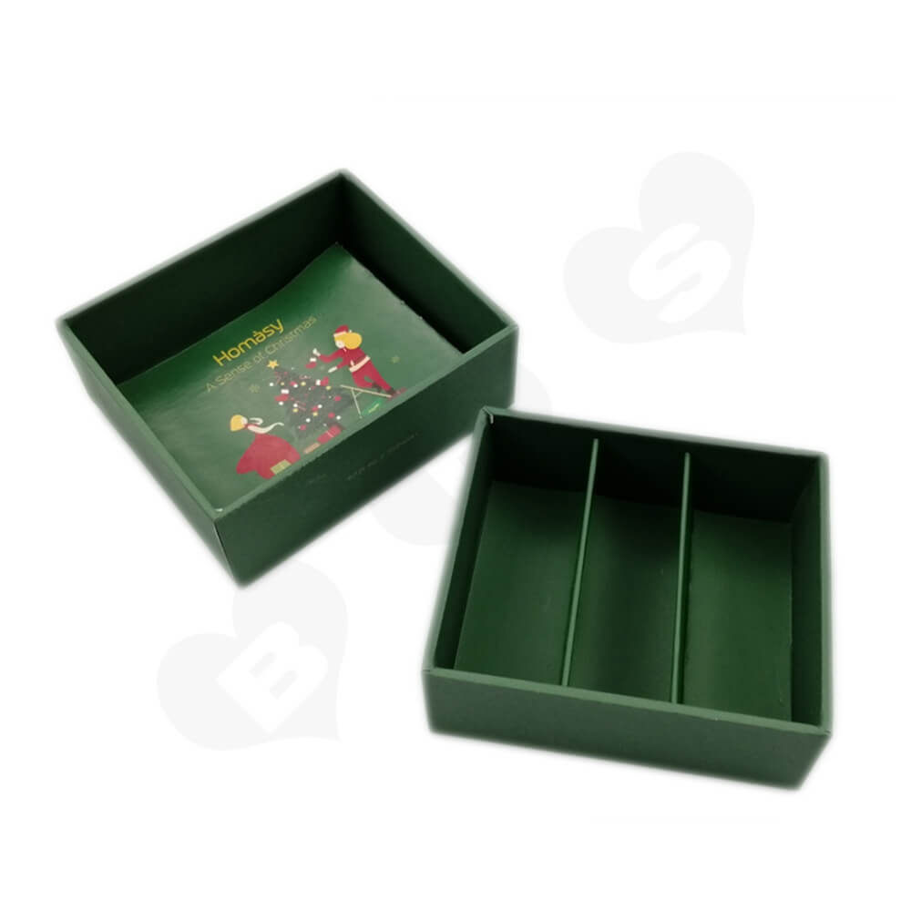 Business Product Packaging Box Printed With Christmas Color Side View Two