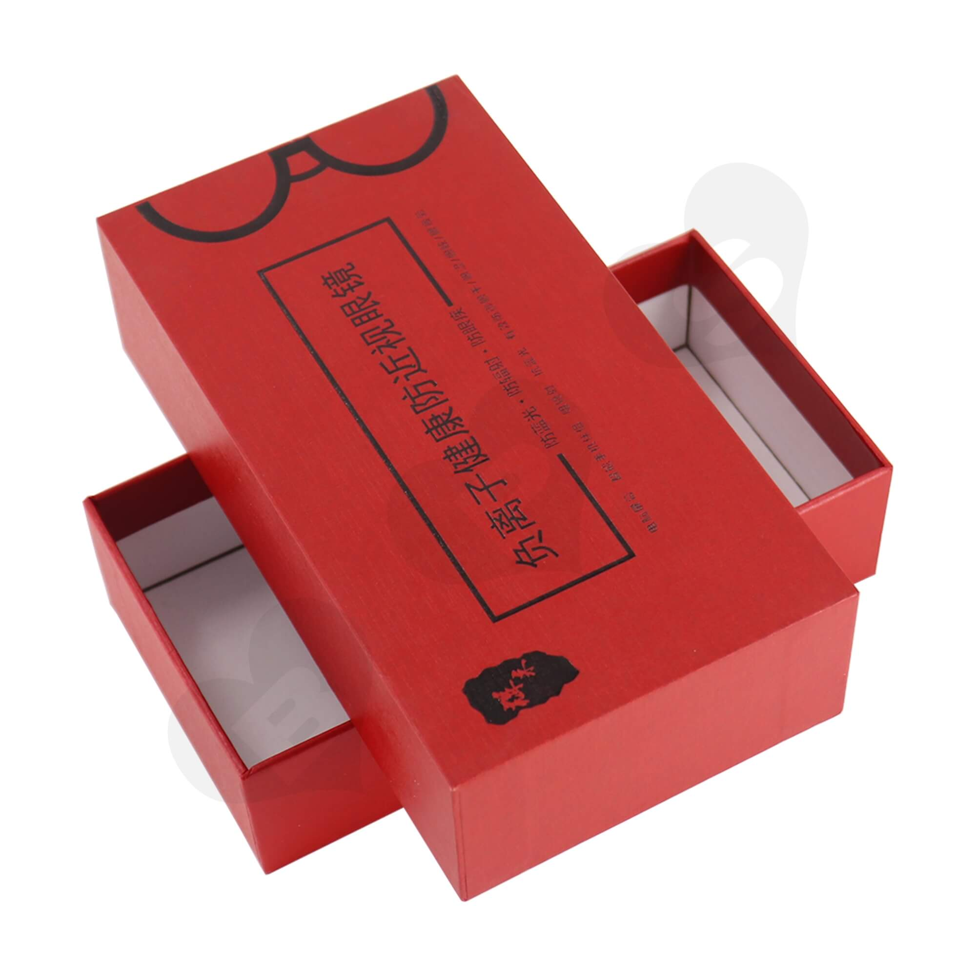 Cardboard Foil Stamping Rigid Set-Up Box For Packing Anti-Myopia Glasses Side View Four