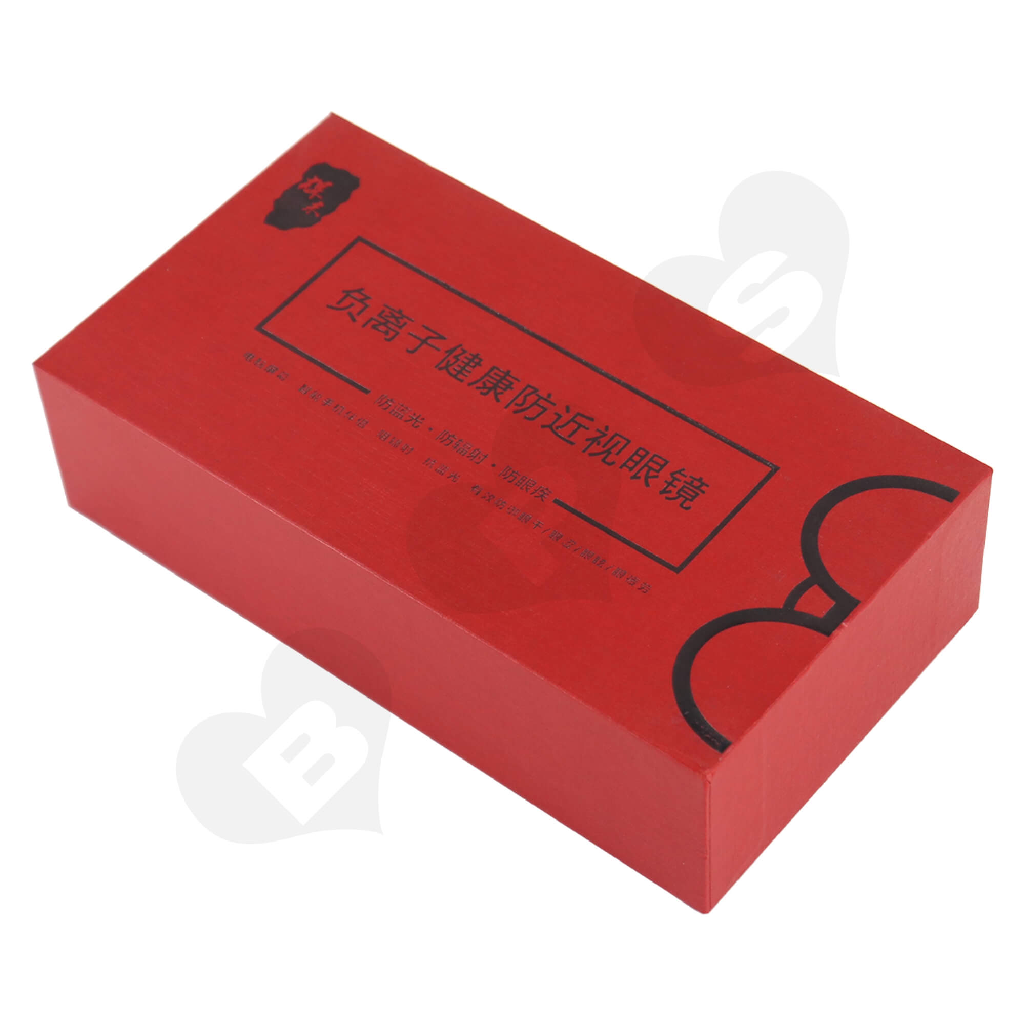Cardboard Foil Stamping Rigid Set-Up Box For Packing Anti-Myopia Glasses Side View One