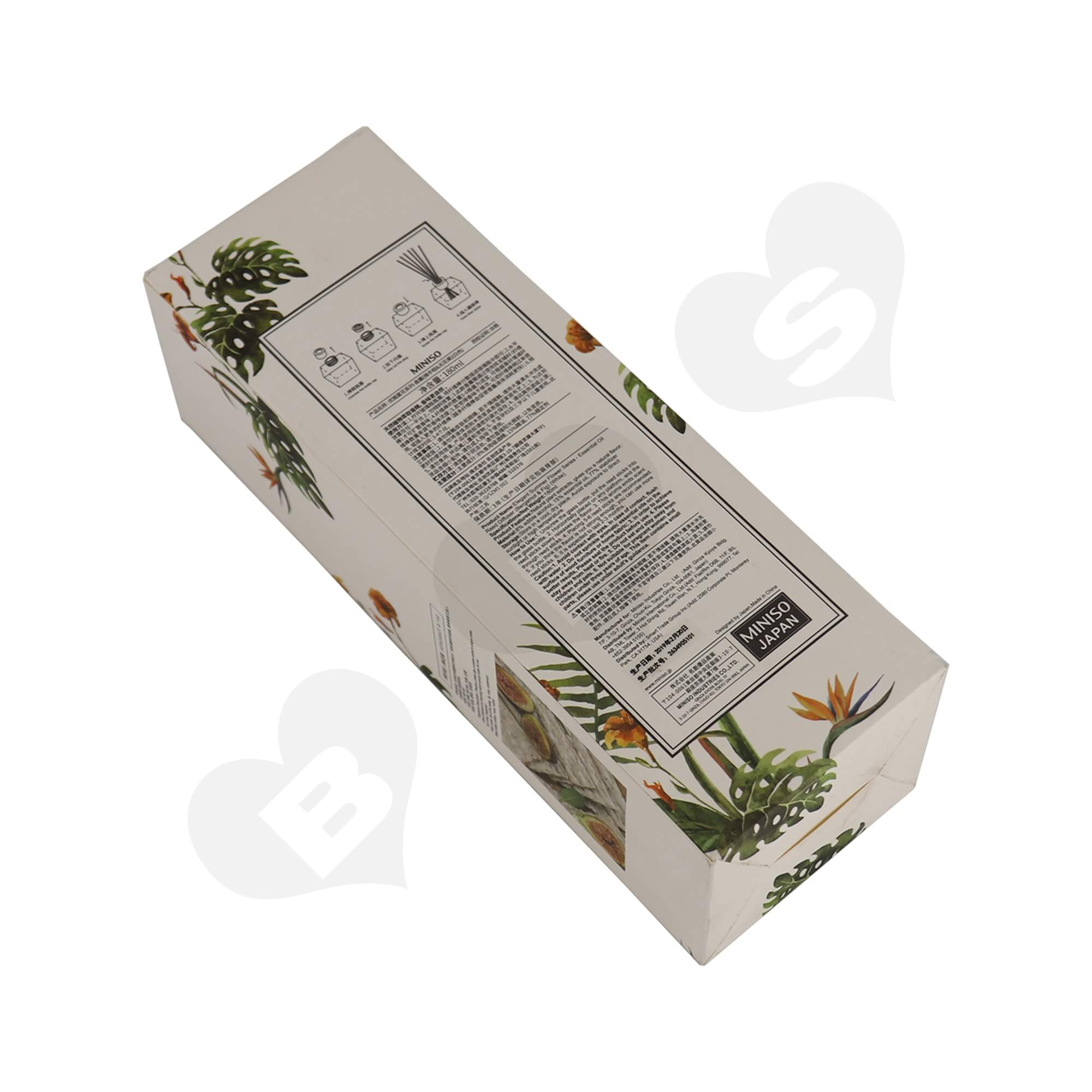 Cardboard Folding Carton For Packing Scent Diffuser With Testing Valve Side View Eight