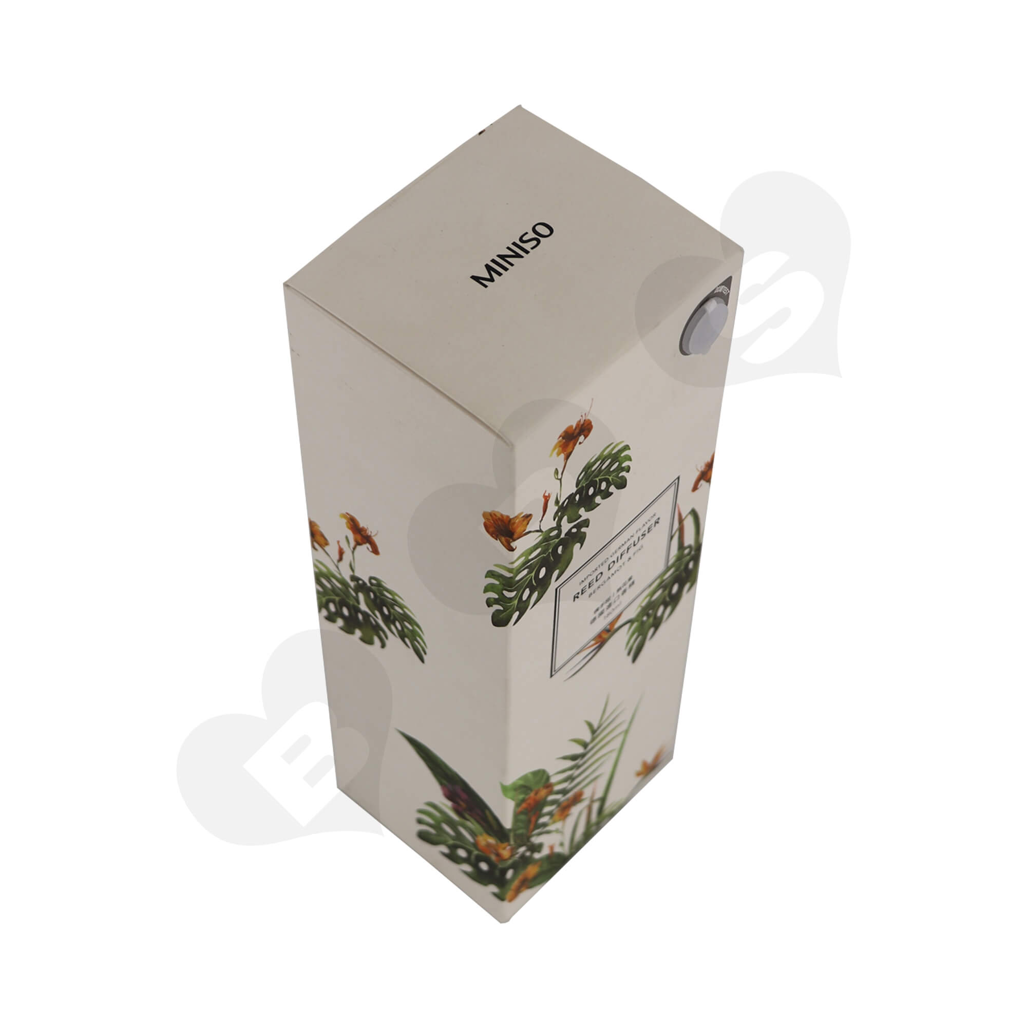 Cardboard Folding Carton For Packing Scent Diffuser With Testing Valve Side View One