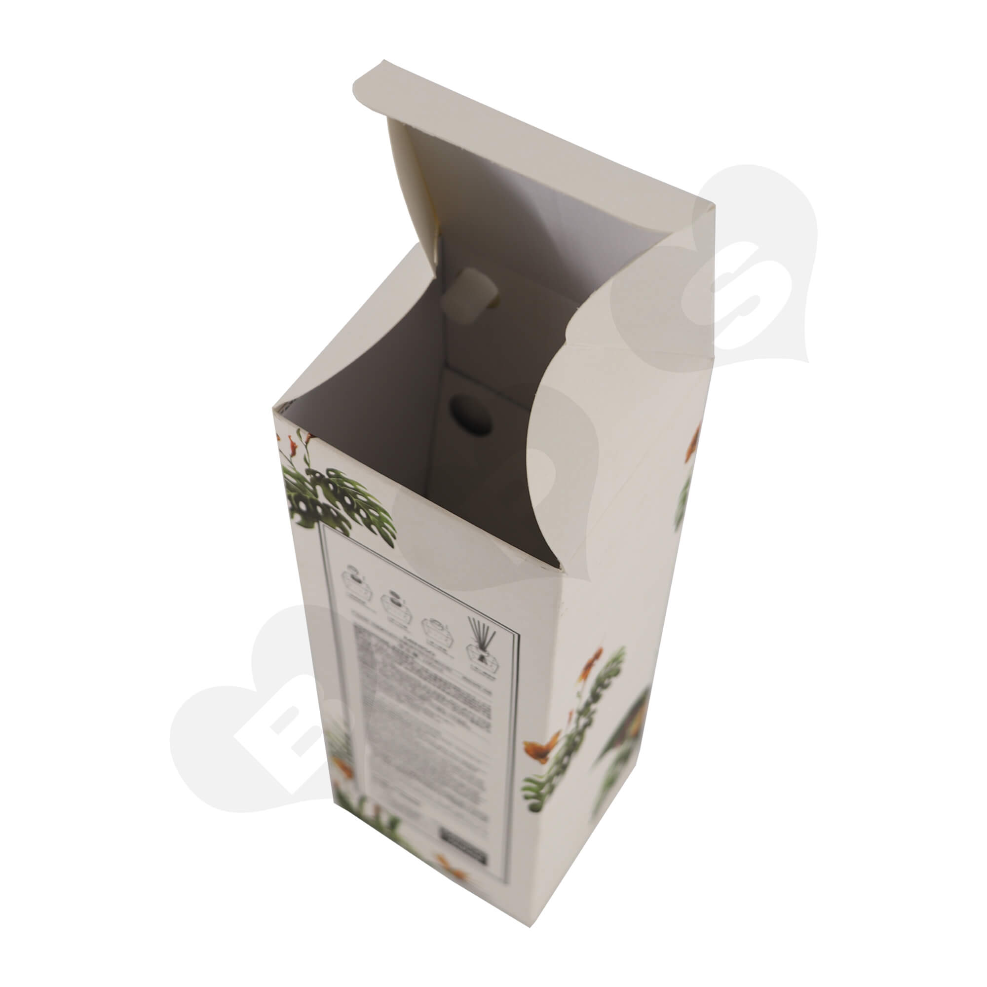 Cardboard Folding Carton For Packing Scent Diffuser With Testing Valve Side View Seven