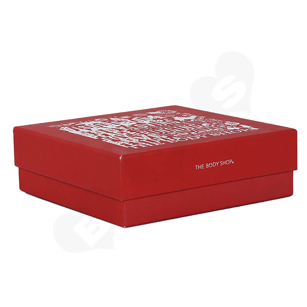 Christmas Color Box For Cosmetic Product With Blister Insert Side View Four