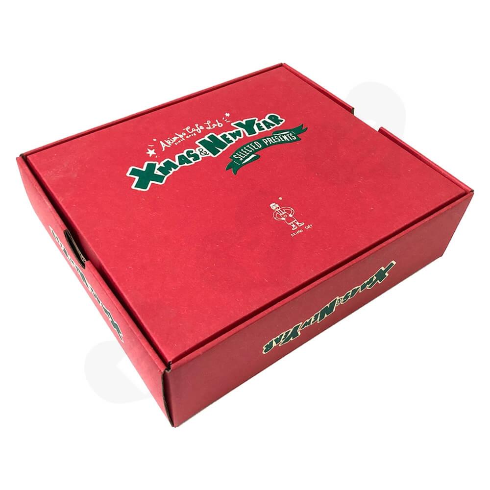 Christmas Color Printed Cardboard Gift Box Side View Three