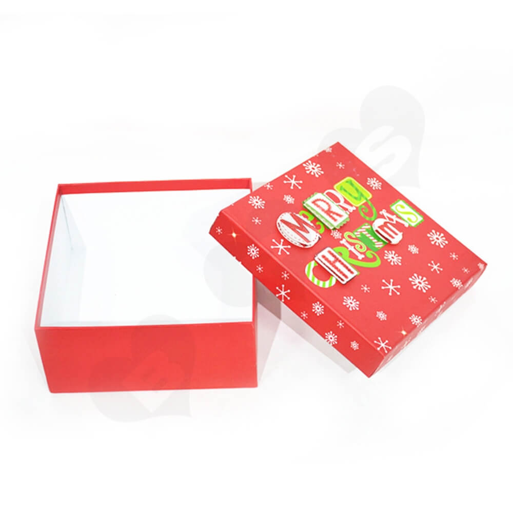 Christmas Gift Box With Detachable Lid Side View Four