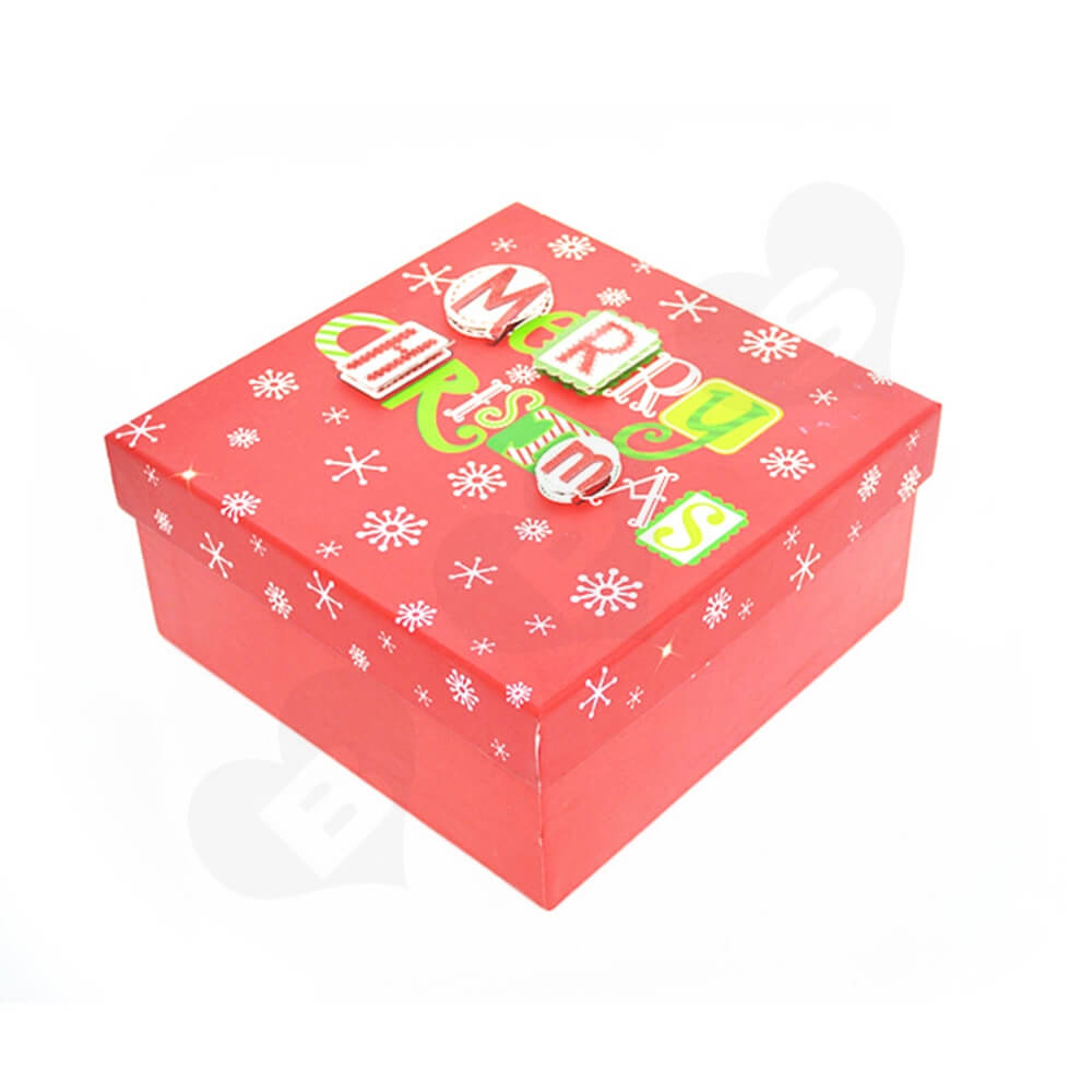 Christmas Gift Box With Detachable Lid Side View Three