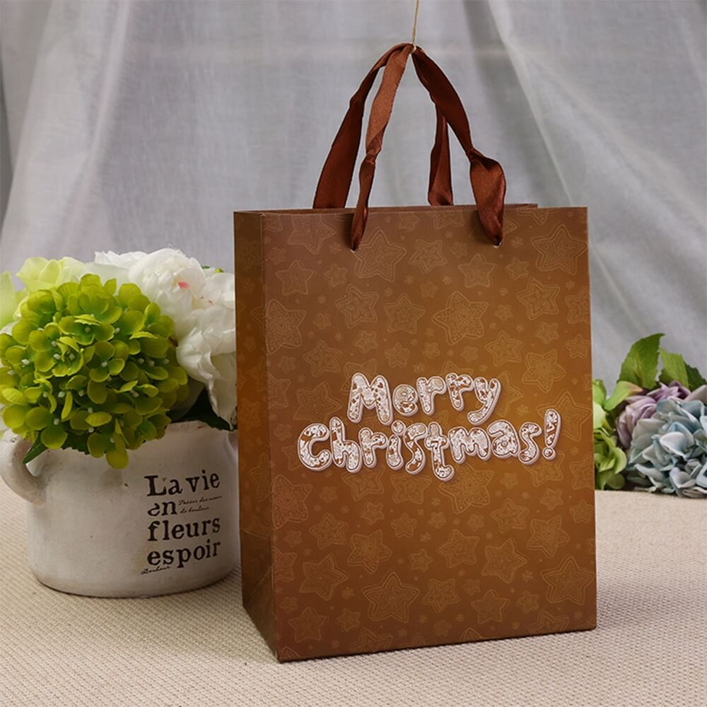 Christmas Gift Packaging Paper Bag Side View One