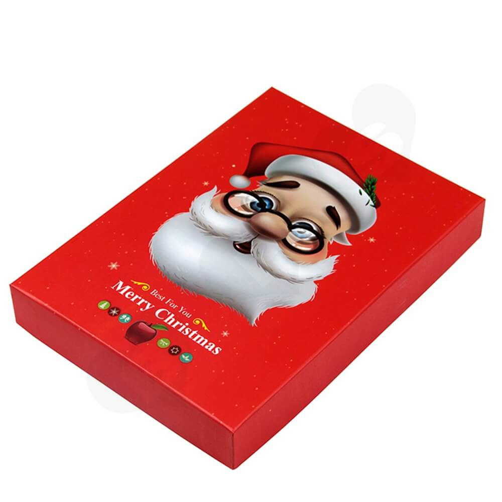 Christmas Red Color Gift Box For Lipstick Side View One