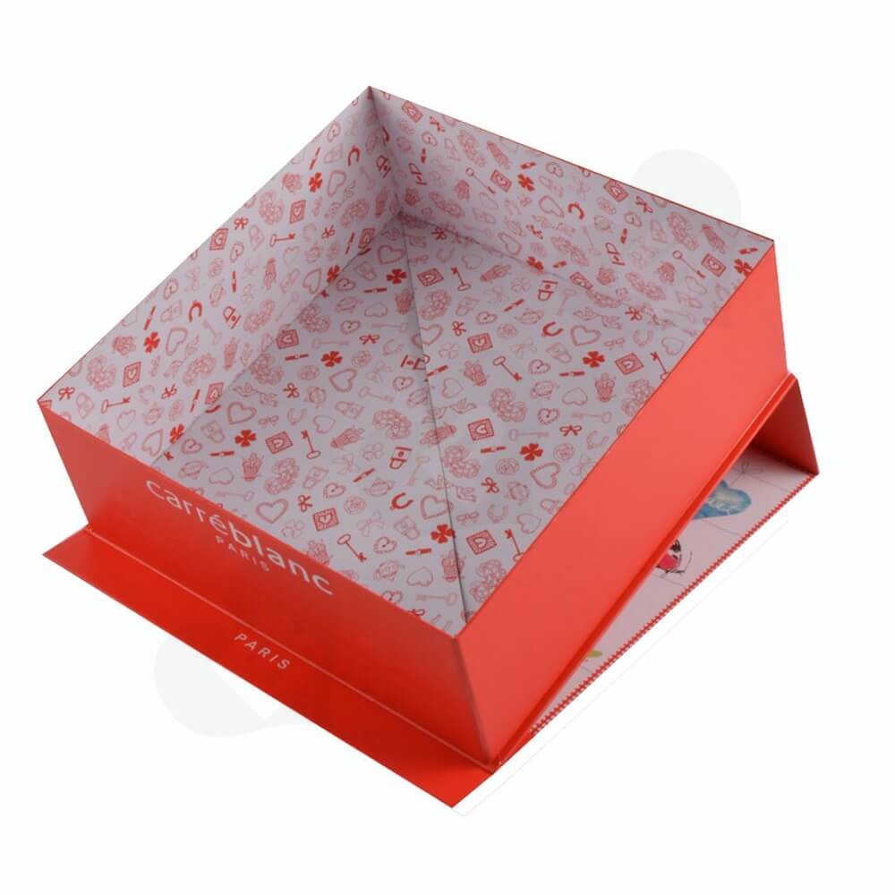 Collapsible Gift Box For Christmas Apparel Side View Four