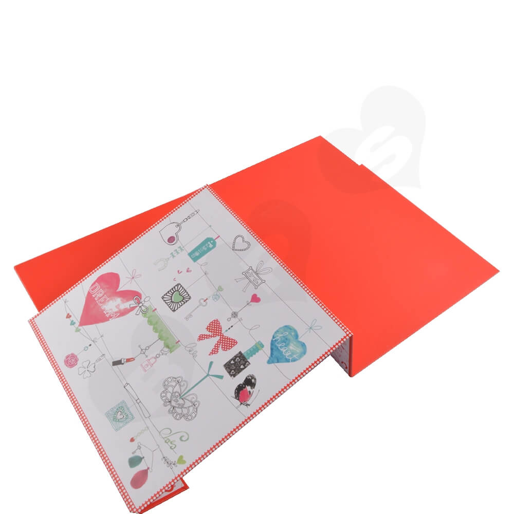 Collapsible Gift Box For Christmas Apparel Side View Three