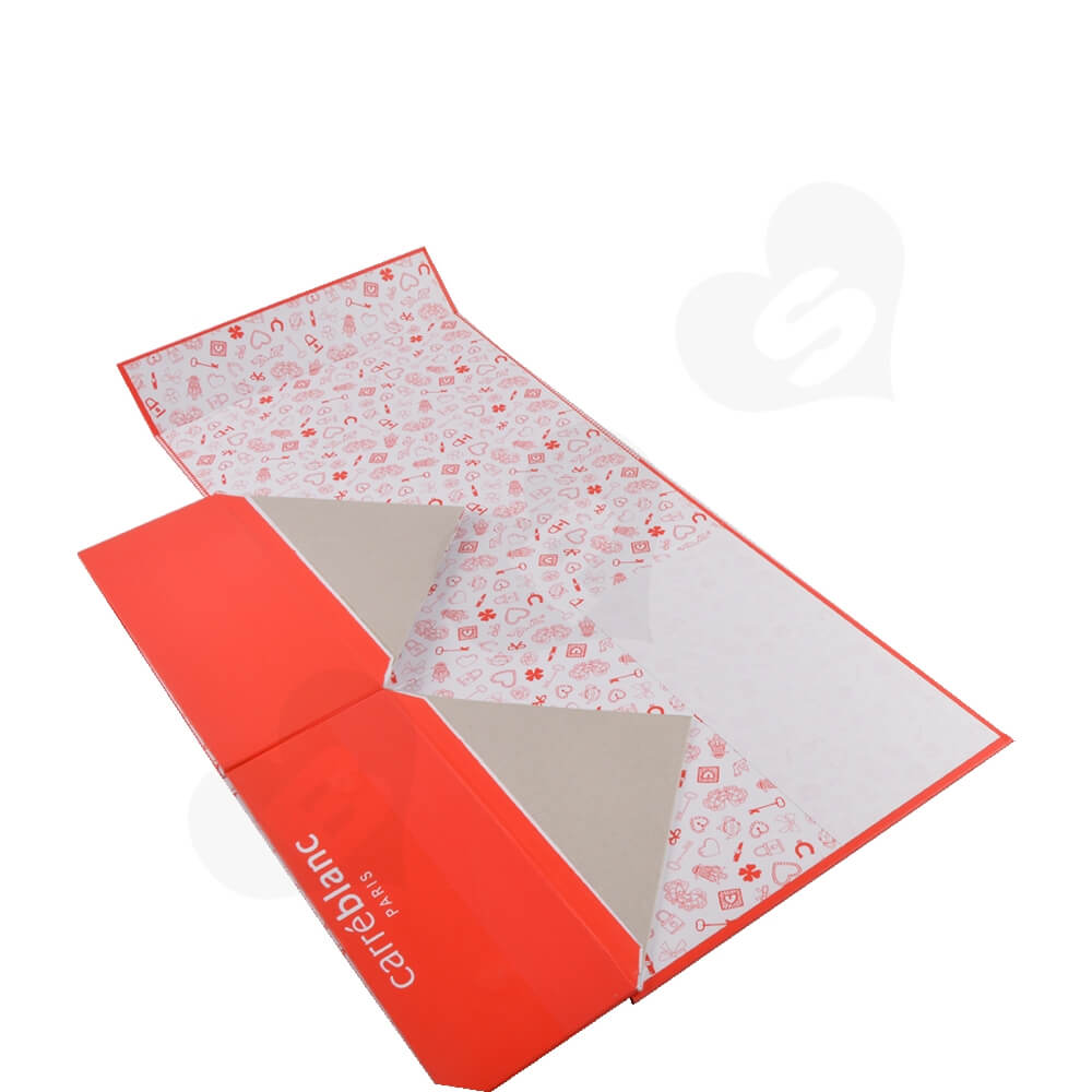 Collapsible Gift Box For Christmas Apparel Side View Two