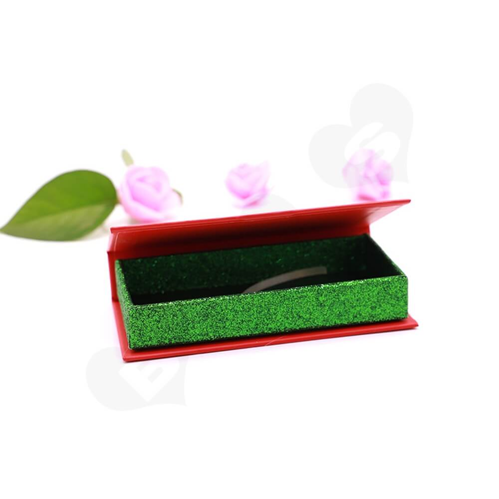 Custom Christmas Color Eyelash Packaging Box Side View Four