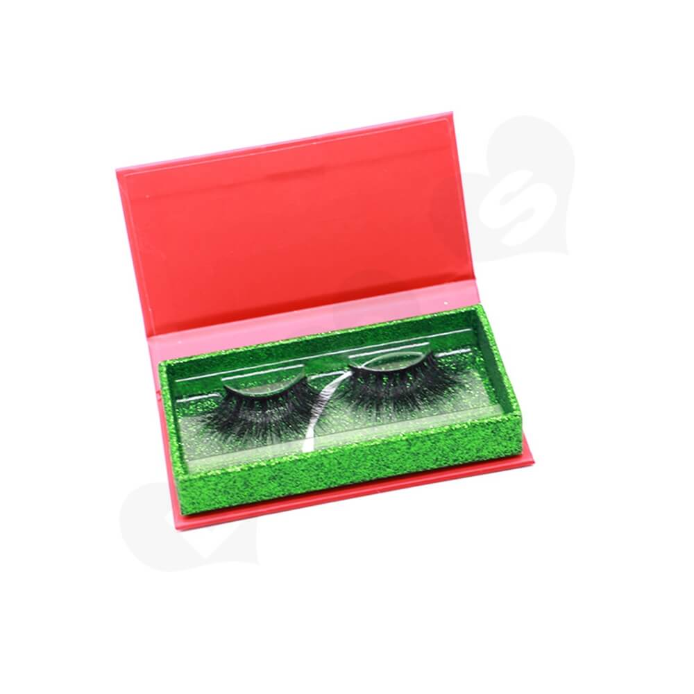 Custom Christmas Color Eyelash Packaging Box Side View One