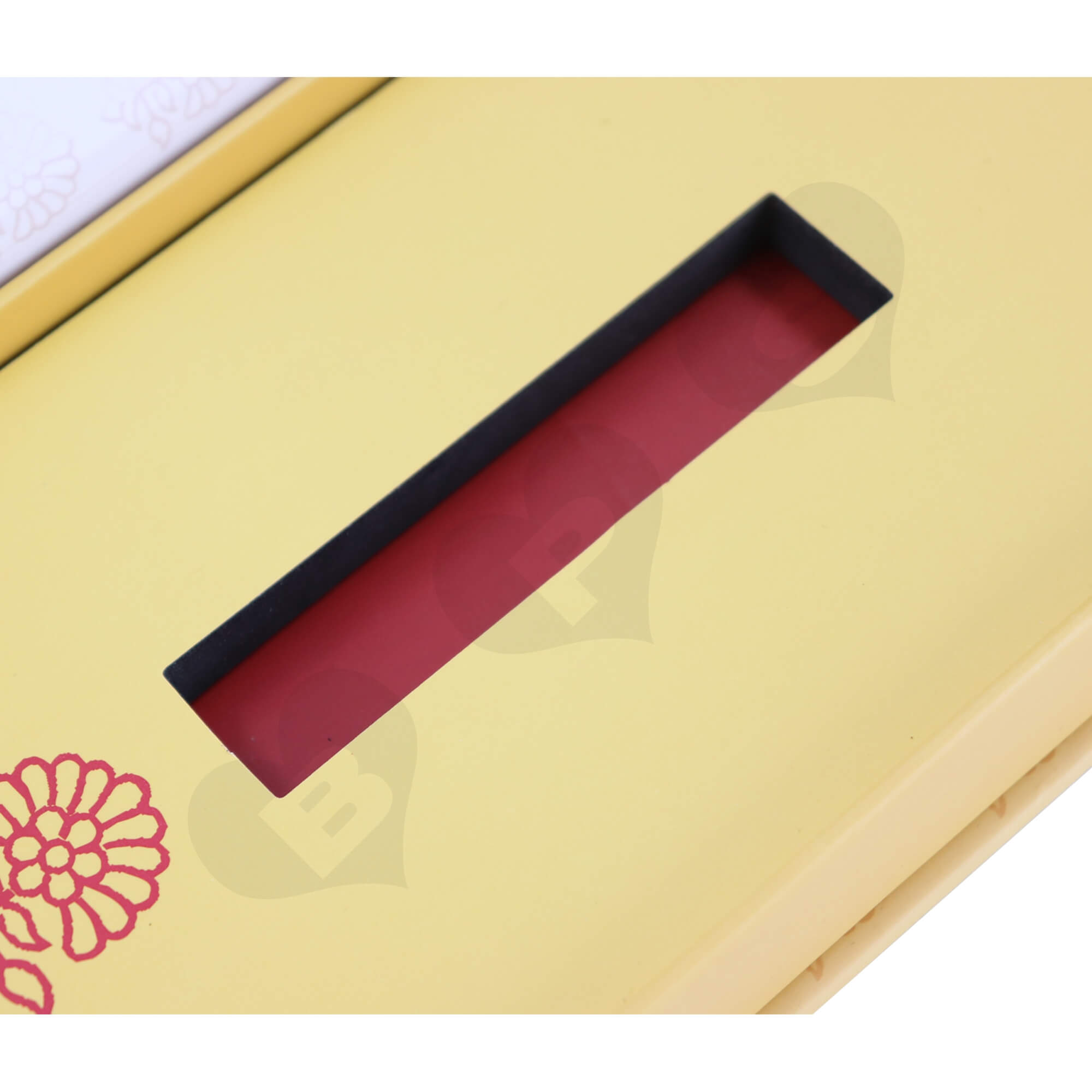 Custom Hinged Lid Book Style Gift Box For Perfume Side View Three