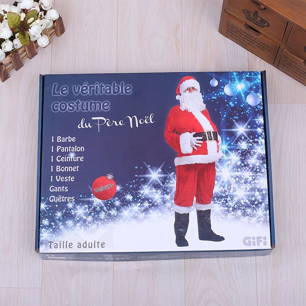 Custom Printed Christmas Apparel Shipping Packaging Box Side View One