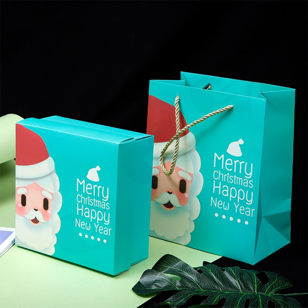 Custom Printed Folding Carton For Christmas Gift Side View Eight