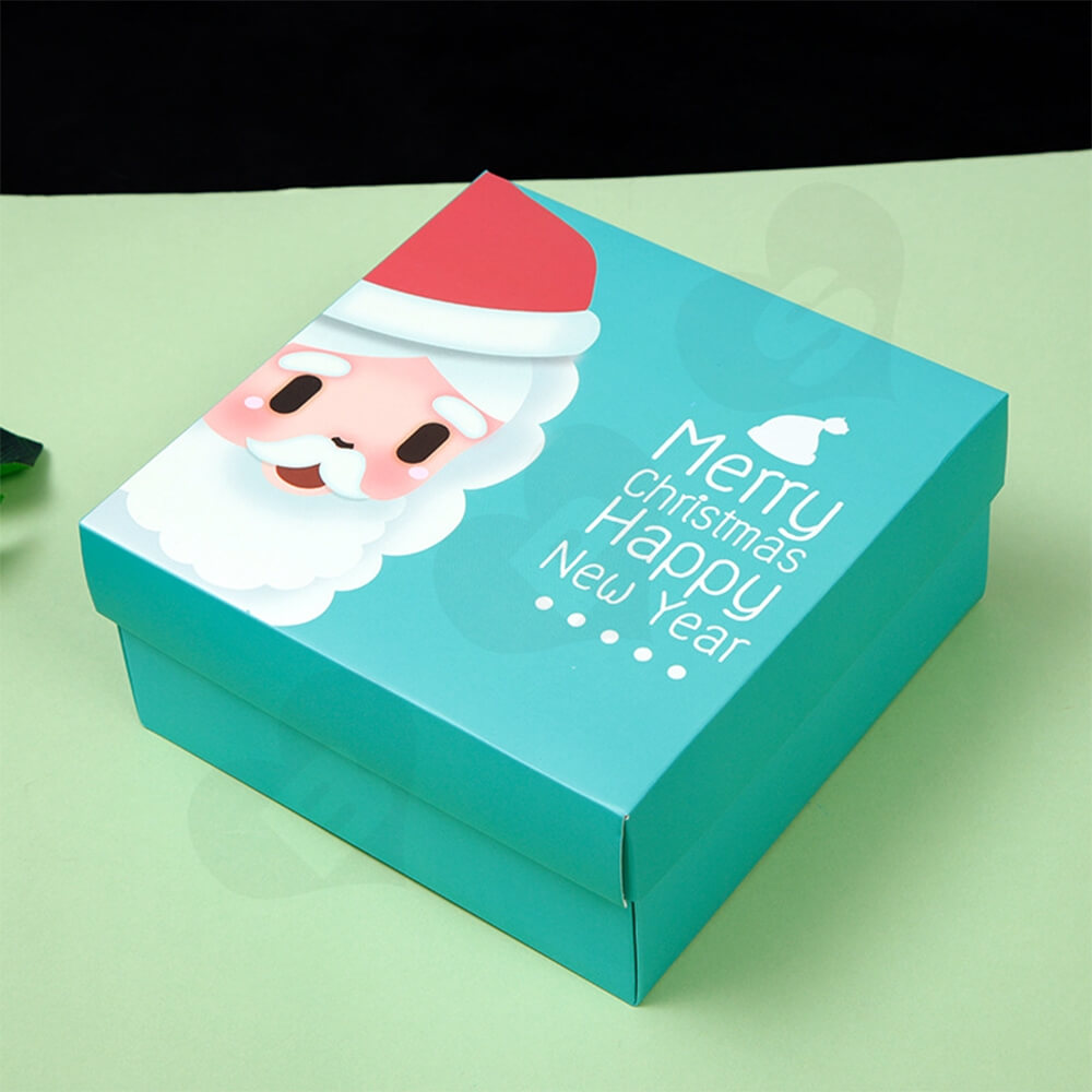Custom Printed Folding Carton For Christmas Gift Side View Four