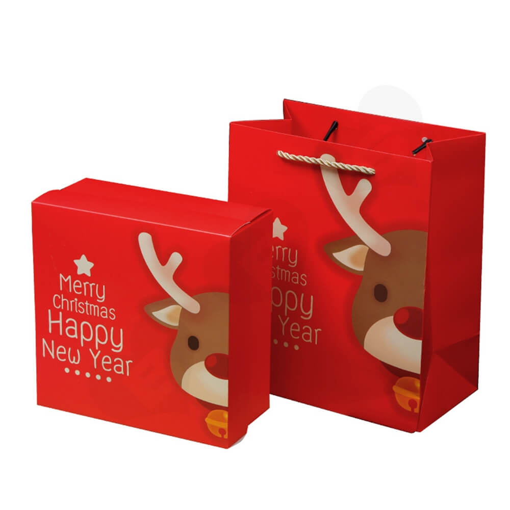 Custom Printed Folding Carton For Christmas Gift Side View One