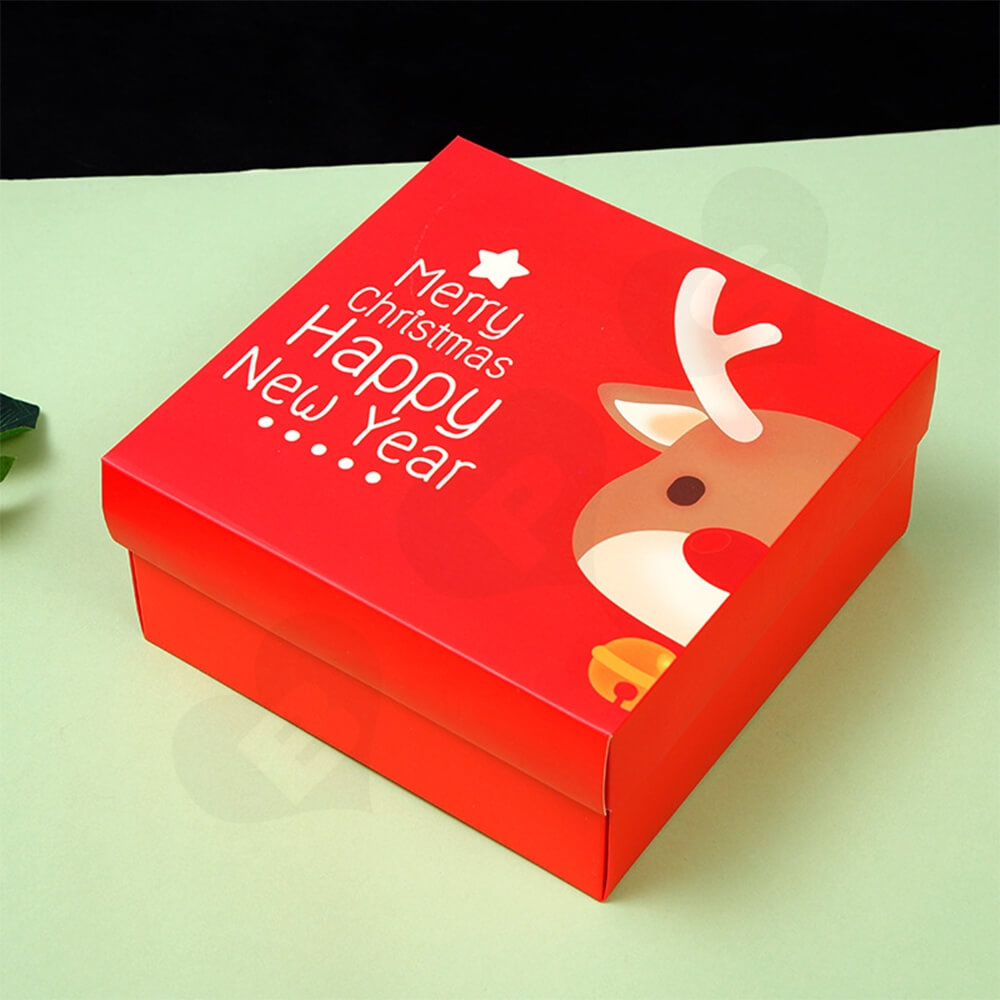 Custom Printed Folding Carton For Christmas Gift Side View Two