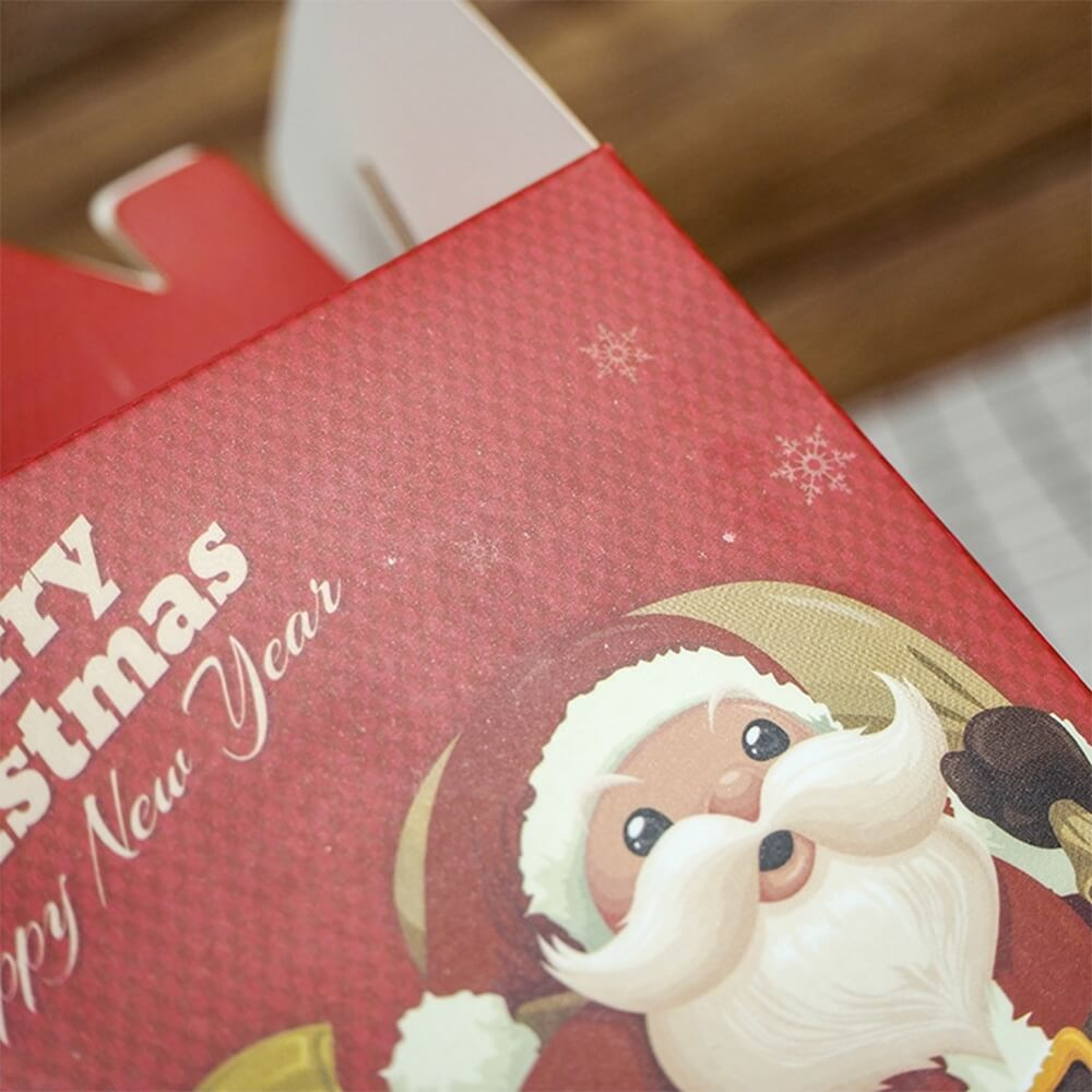 Custom Printed Gable Top Folding Carton For Christmas Gift Side View Three