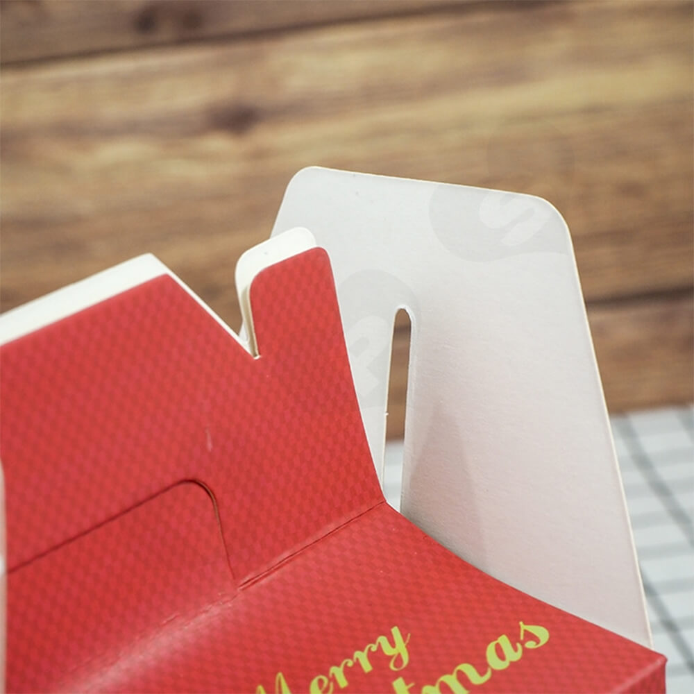 Custom Printed Gable Top Folding Carton For Christmas Gift Side View Two