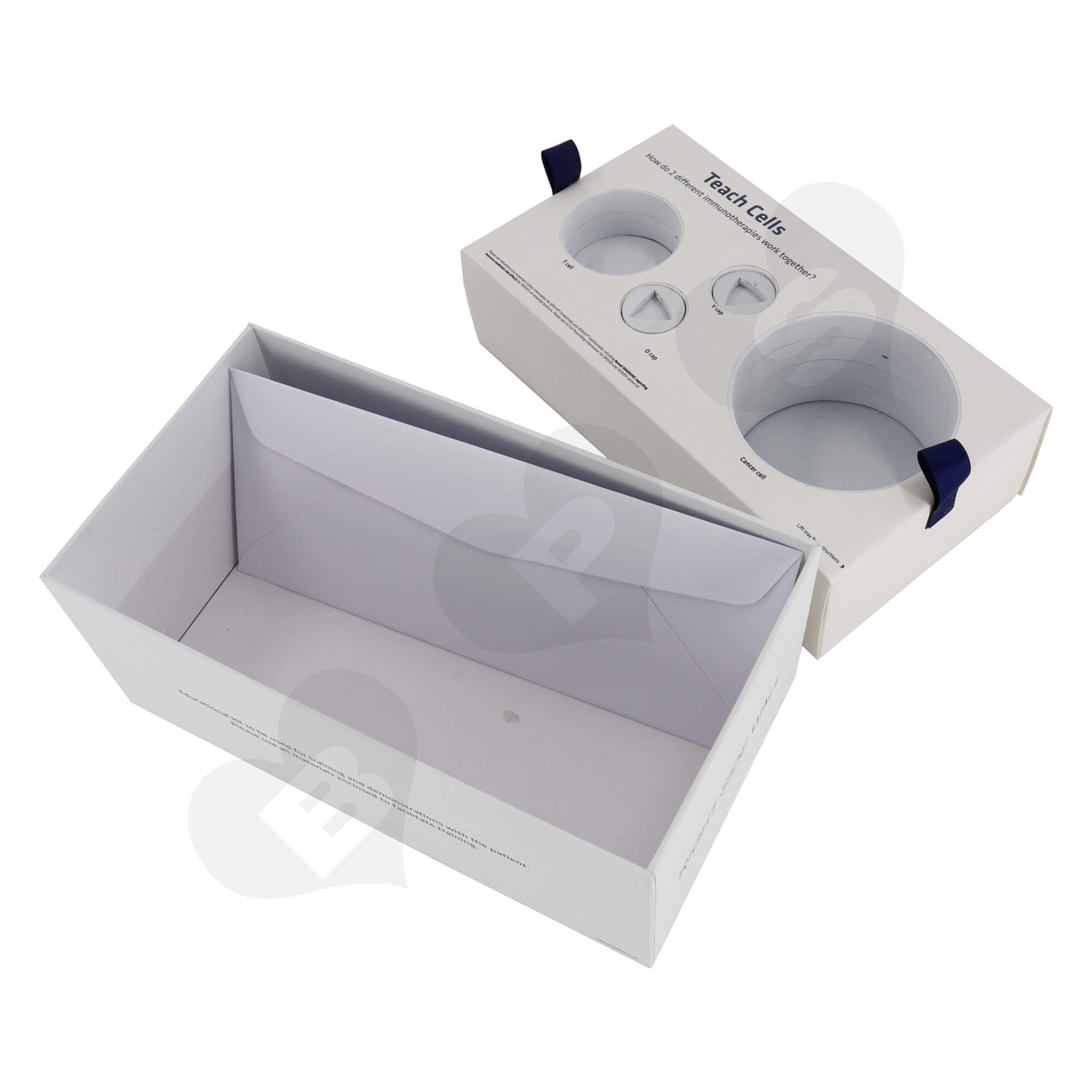 Custom Printed Rigid Cardboard Tray With Plastic Sleeve For Packing Electronic Device Kit Side View Four