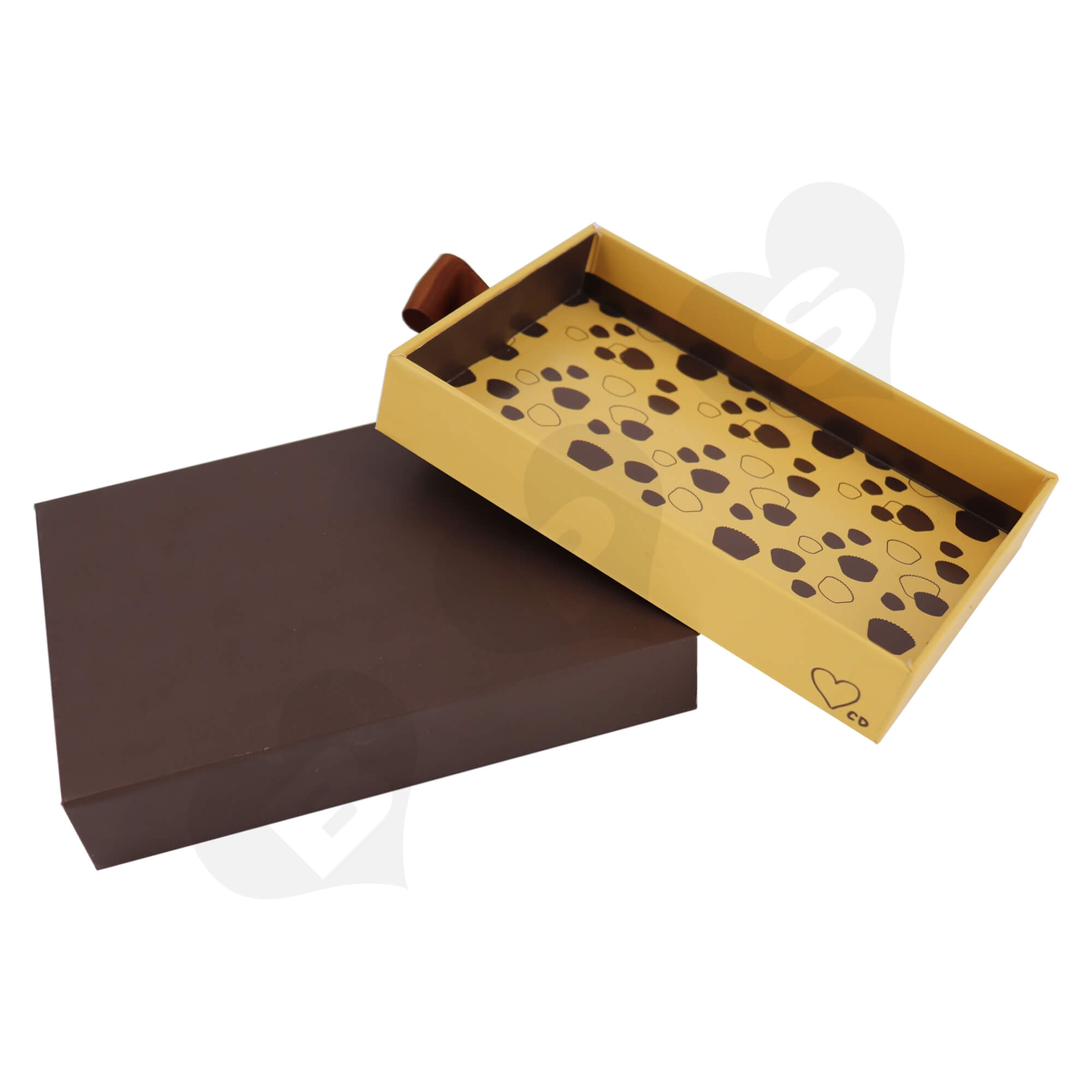 Customizable Cardboard Drawer Box For Packing Dessert Side View Five