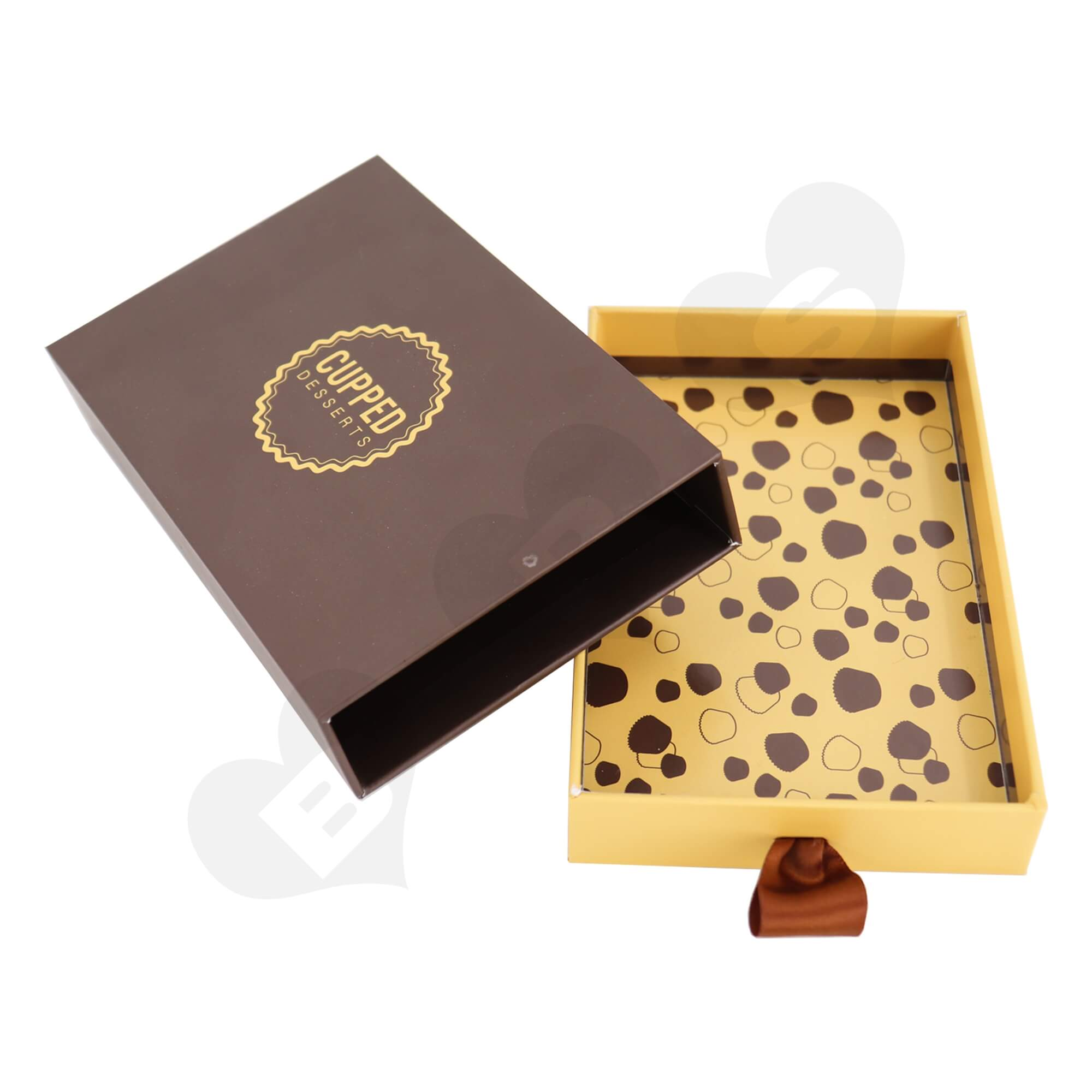Customizable Cardboard Drawer Box For Packing Dessert Side View Four