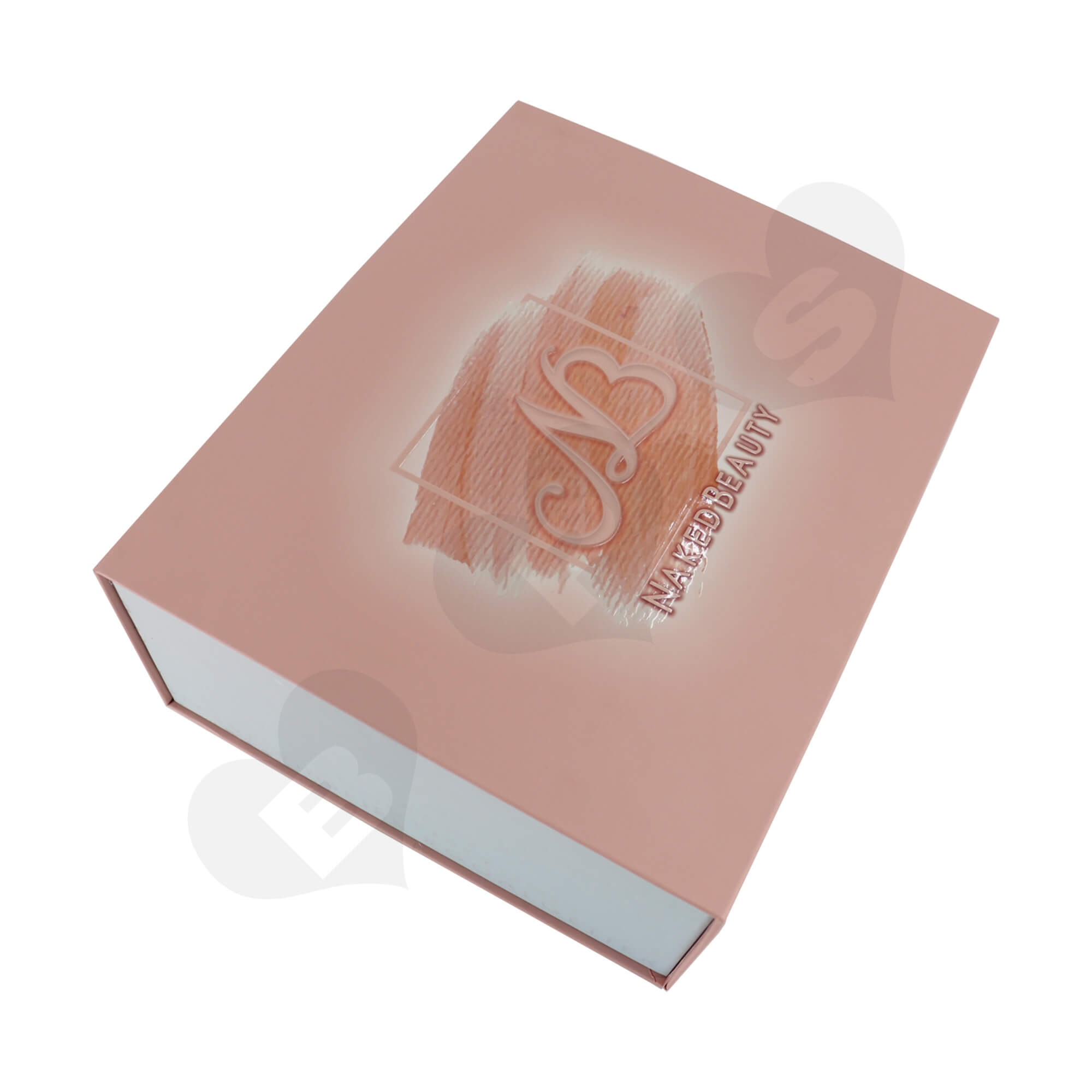 Luxury Cardboard Gift Box For Packing Cosmetic Makeup Kit Side View Two