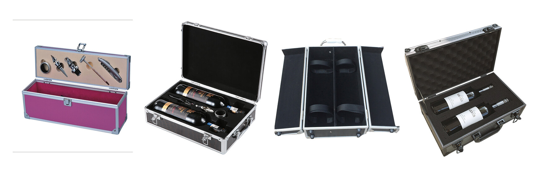 Aluminum Alloy Wine Packaging Suitcase Box