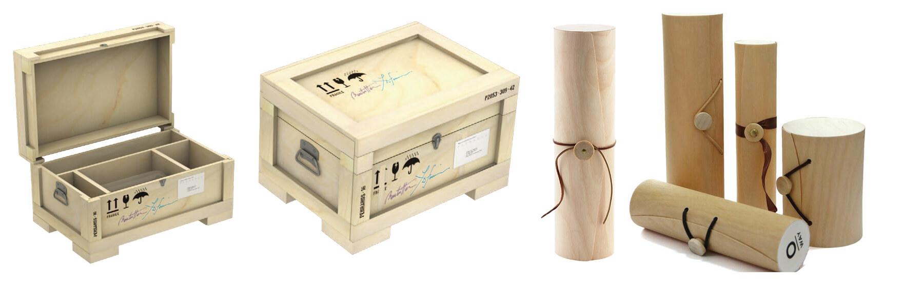 Birch Wood Wine Storage Box Birch Bark Veneer Box