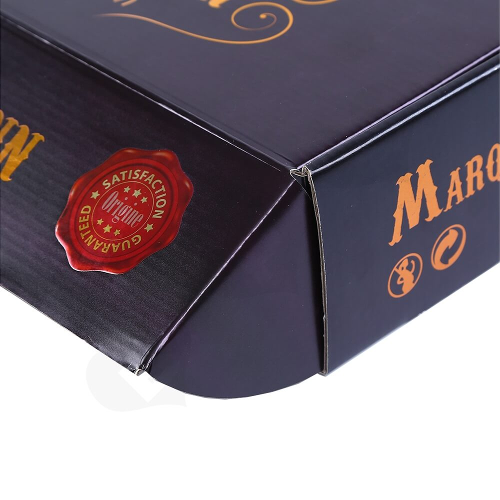 Corrugated Mailer Box For Wine Bottle Side View Four
