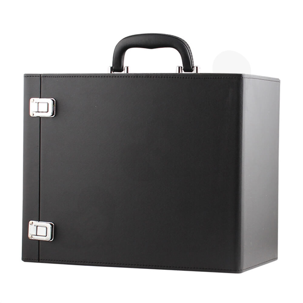 Custom Cardboard Insulated Wine Box Suitcase Side View One
