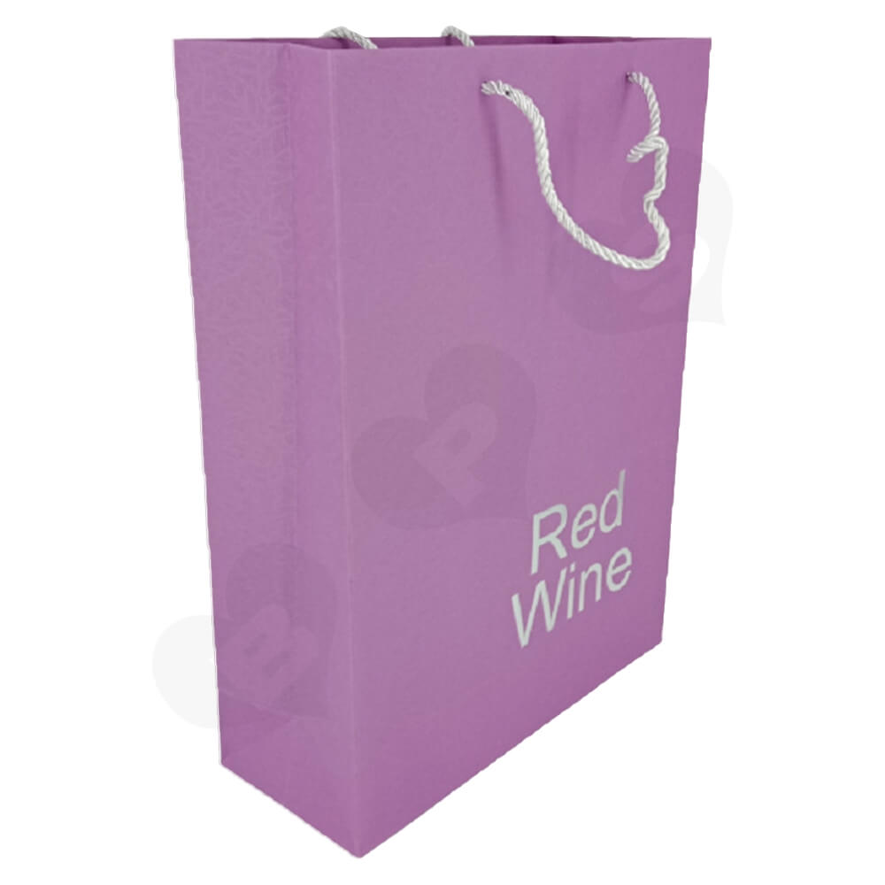 Custom Die Cut Gift Box For Red Wine Side View Five