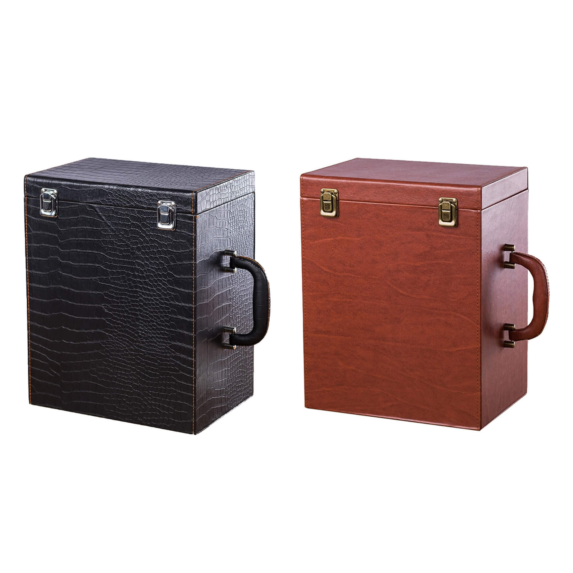 Custom Hinged Lid Insulated Cardboard Wine Boxes Side View One