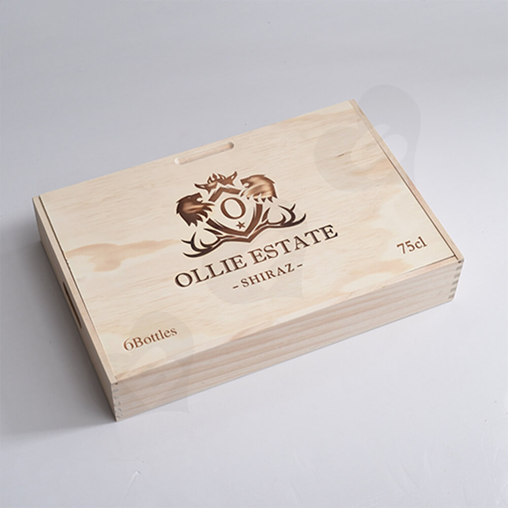 Custom Laser Printed Wine Box Side View Five