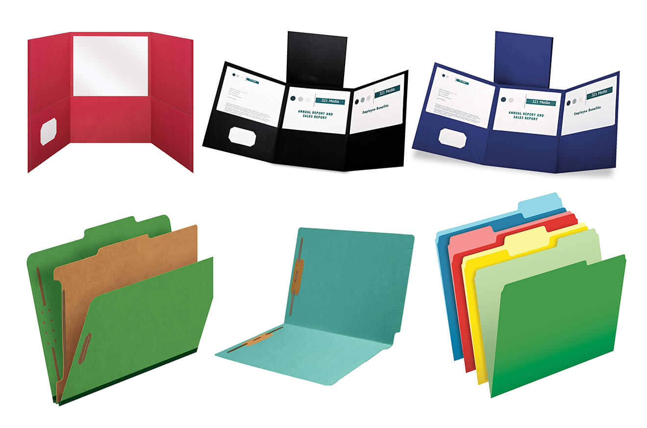 Custom Paper Tri-Folders File Archive
