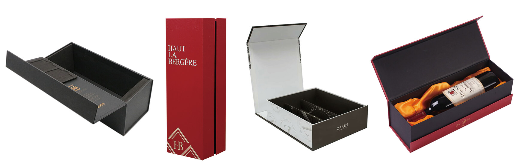 Custom Printed Magnetic Closure Box For Wine