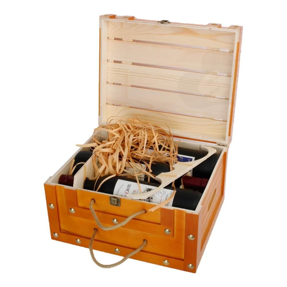 Custom Take Away Retail Six Pack Wine Box Side View Three