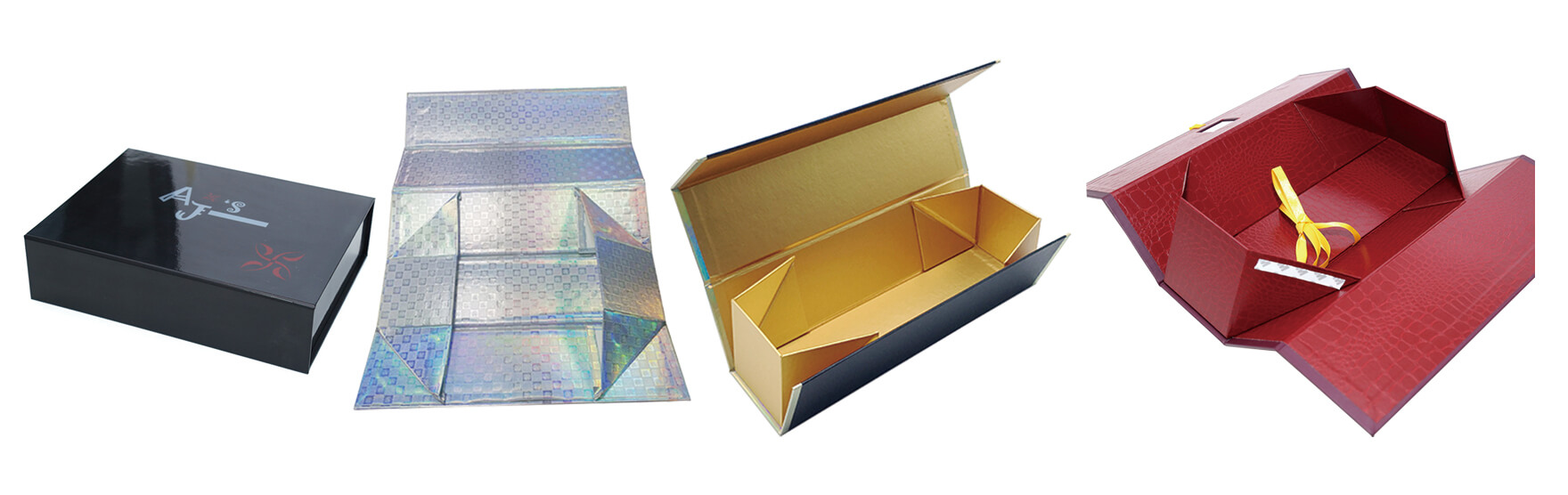 Customizable Collapsible Rigid Gift Box For Wine Bottles