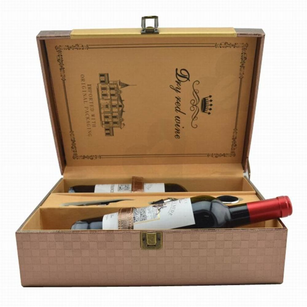 Customizable Medal On Wine Box Kit Side View Two