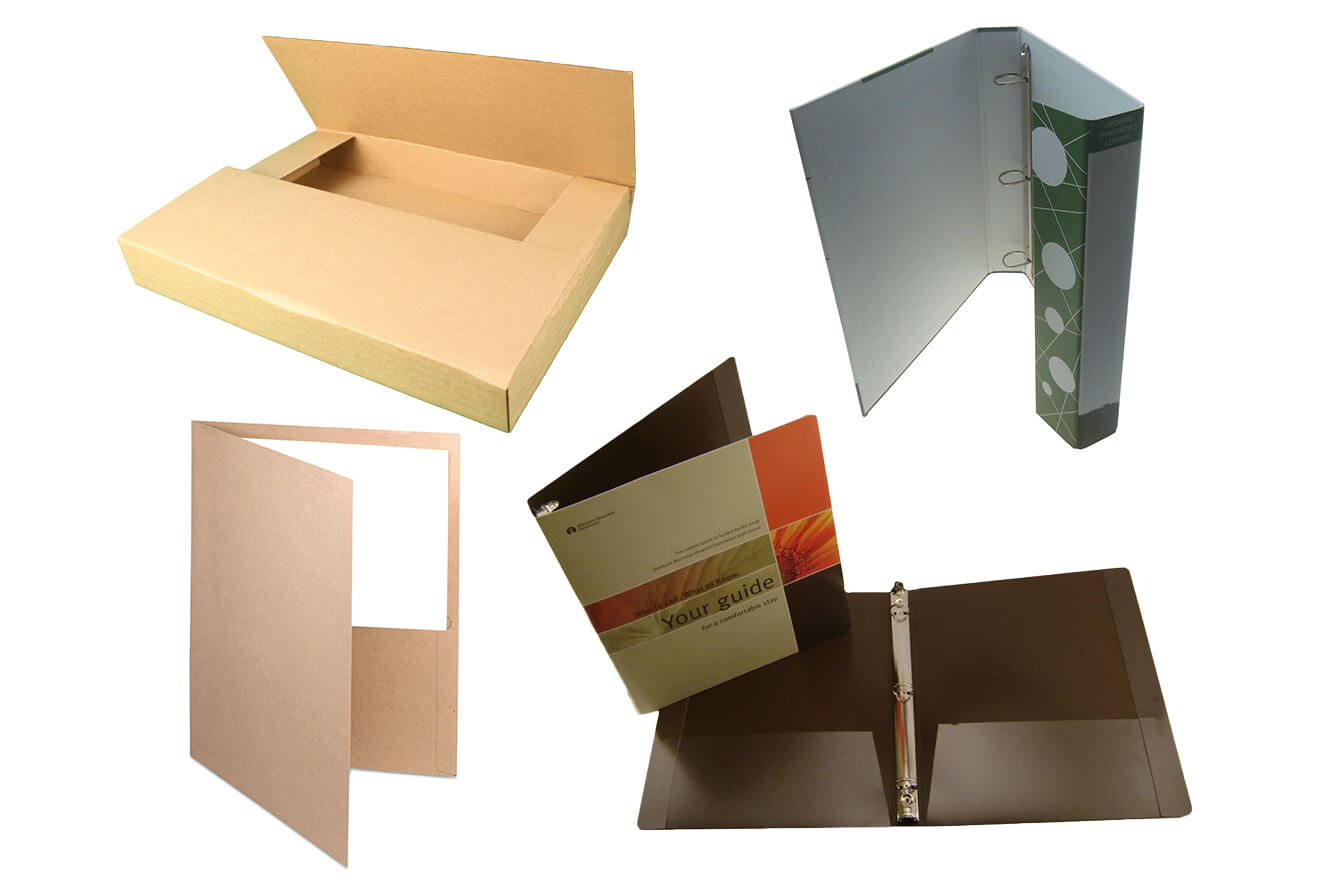 Different Material Use in Cardboard Custom Folders