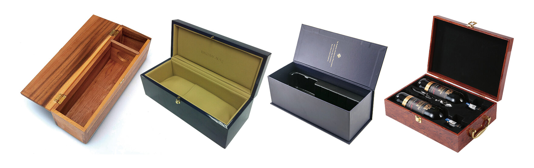 Hinged Lid Wine Packaging Boxes