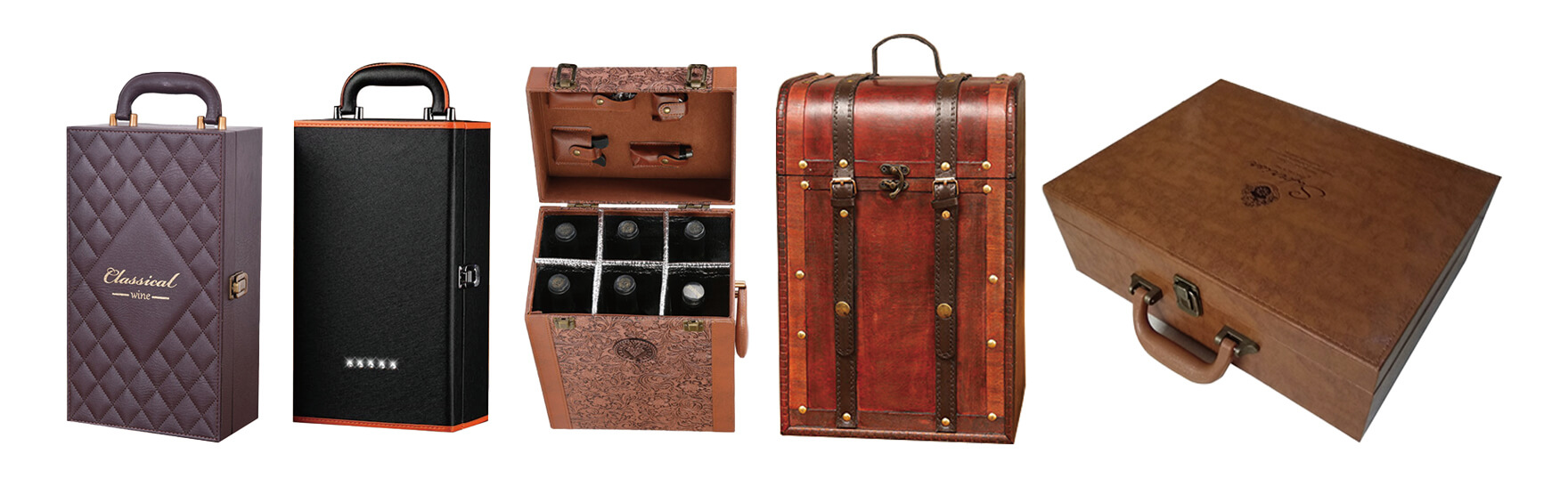 Leather Wine Box Suitcase