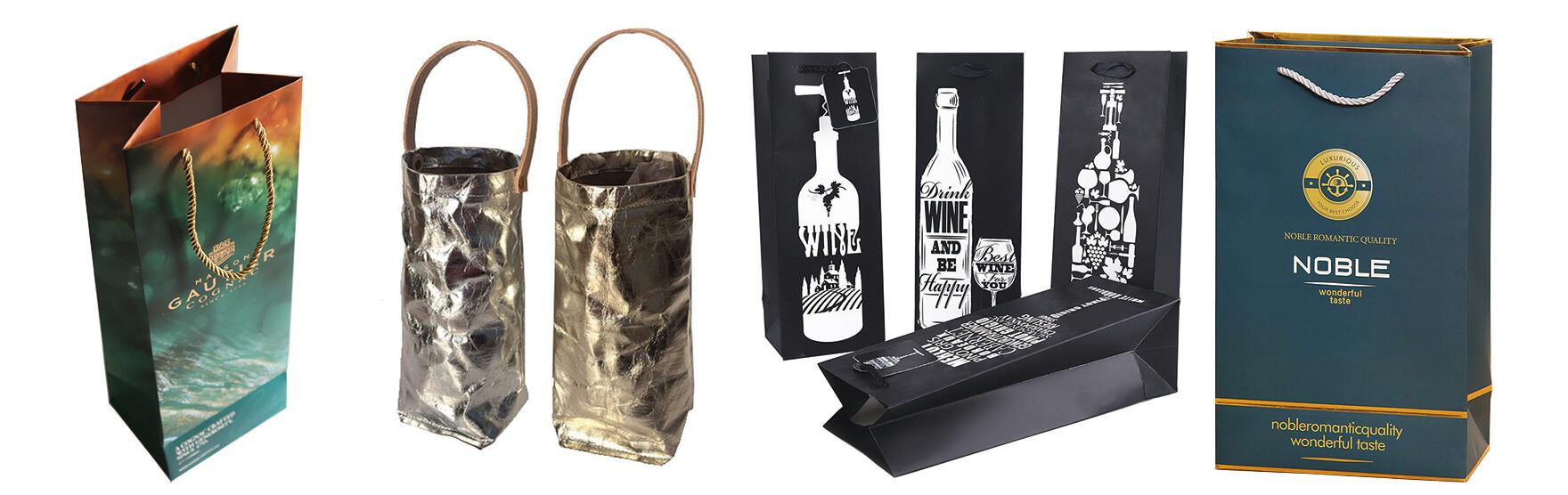 Packaging Bag Paper Bag For Wine Bottle