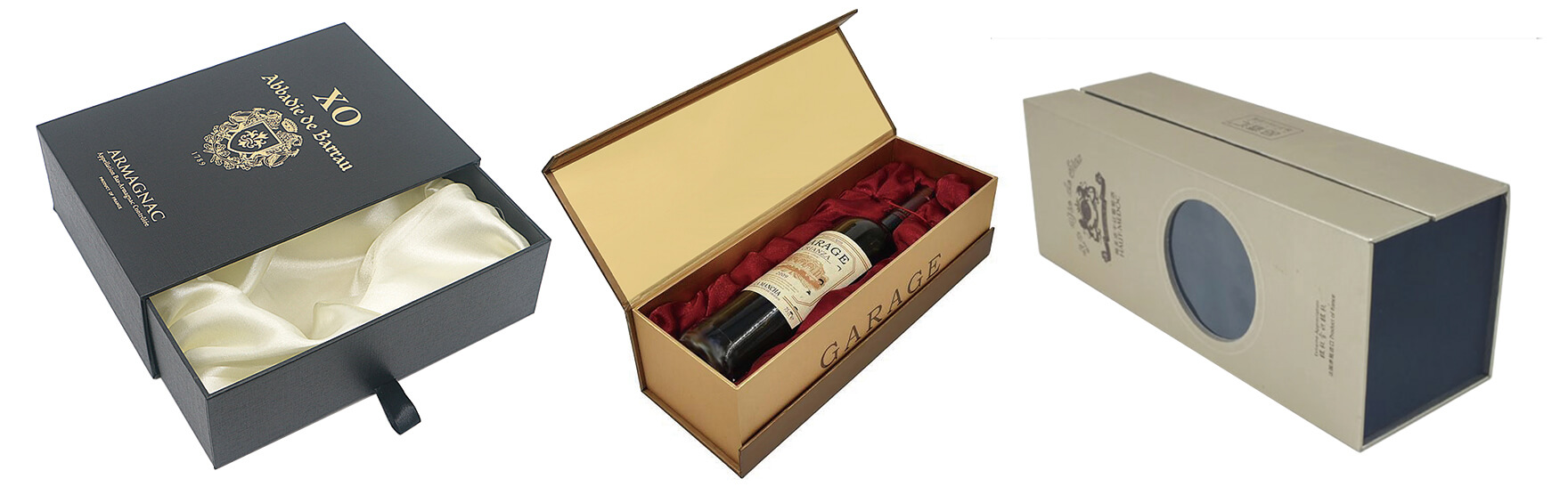Rigid Hard Cardboard Gift Box For Wine Bottle